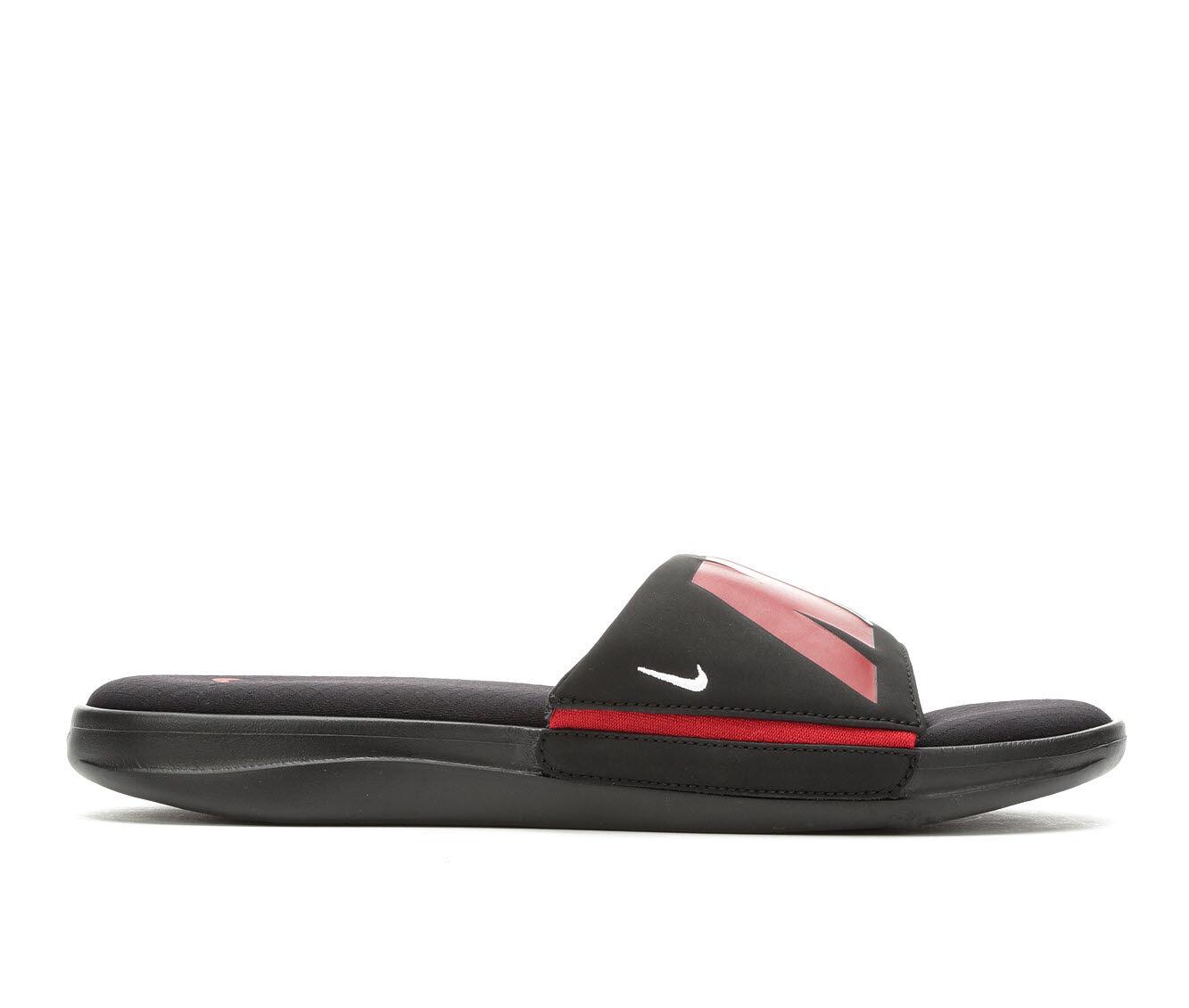 Men's Nike Ultra Comfort 3 Sport Slides Black Red