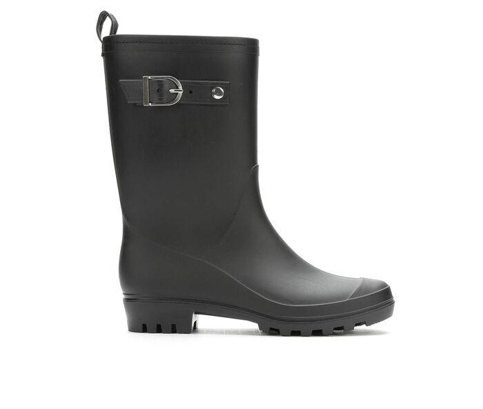 Women's Capelli New York Matte Solid Mid Rain Boots
