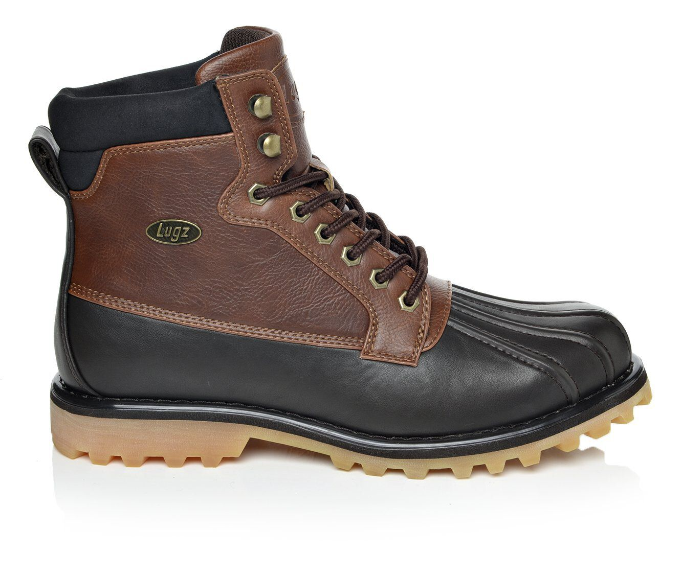 Pre Order Men's Lugz Mallard Duck Boots Dark Brown/Gum