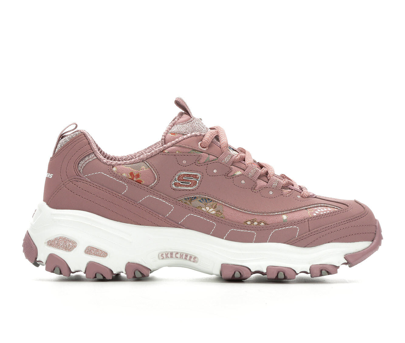 Women's Skechers D'Lites Floral Days 13082 Sneakers Mauve/White