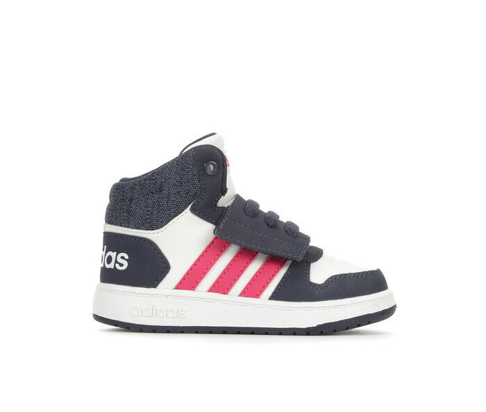 Girls' Adidas Infant & Toddler Hoops Mid Basketball Sneakers