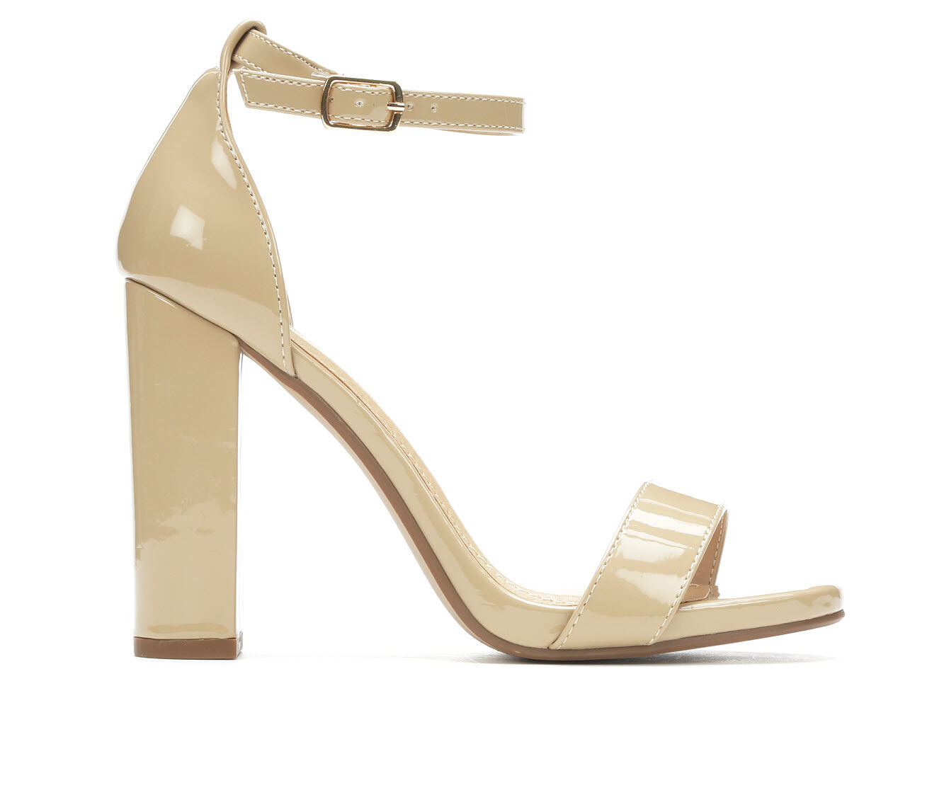 Women's Delicious Shiner Heeled Sandals Dark Beige