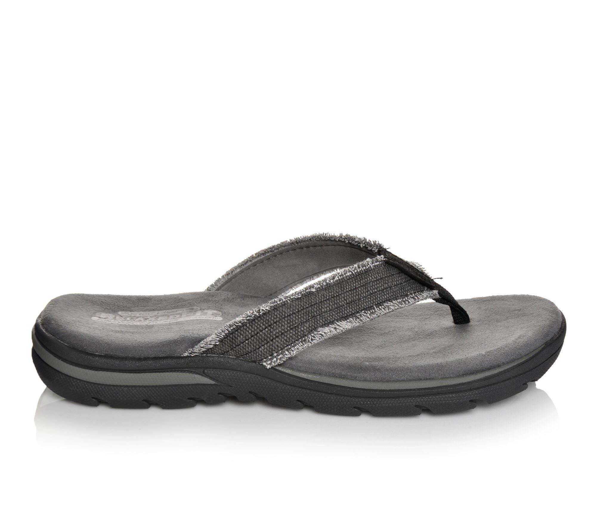 Buy Limited Edition Men's Skechers Bosnia 64152 Flip-Flops Black