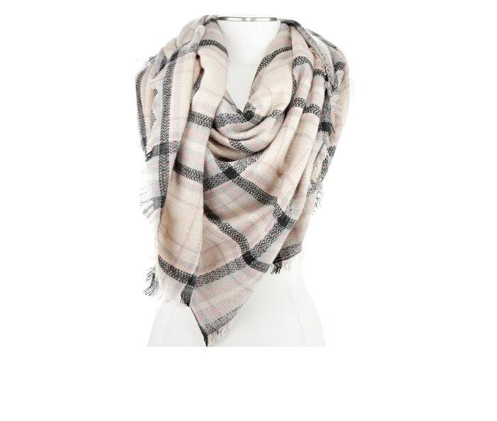 Rampage Plaid Blanket Wrap