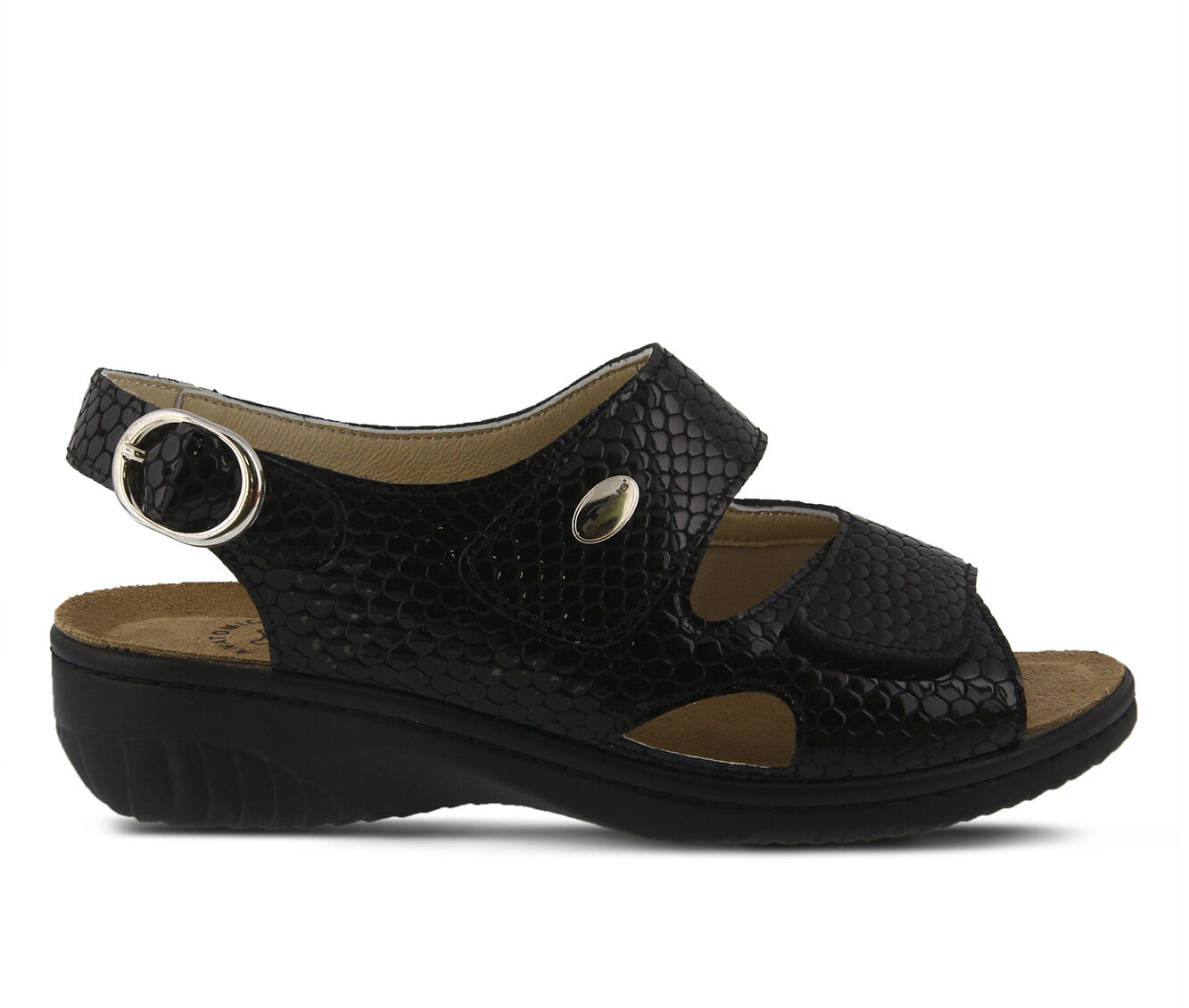Women's FLEXUS Aksamala Sandals Black Pat