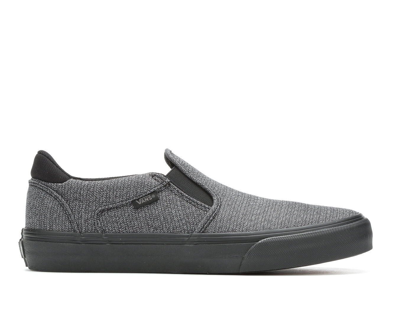 purchase new style Men's Vans Asher-Deluxe Skate Shoes Gry/Blk Textile