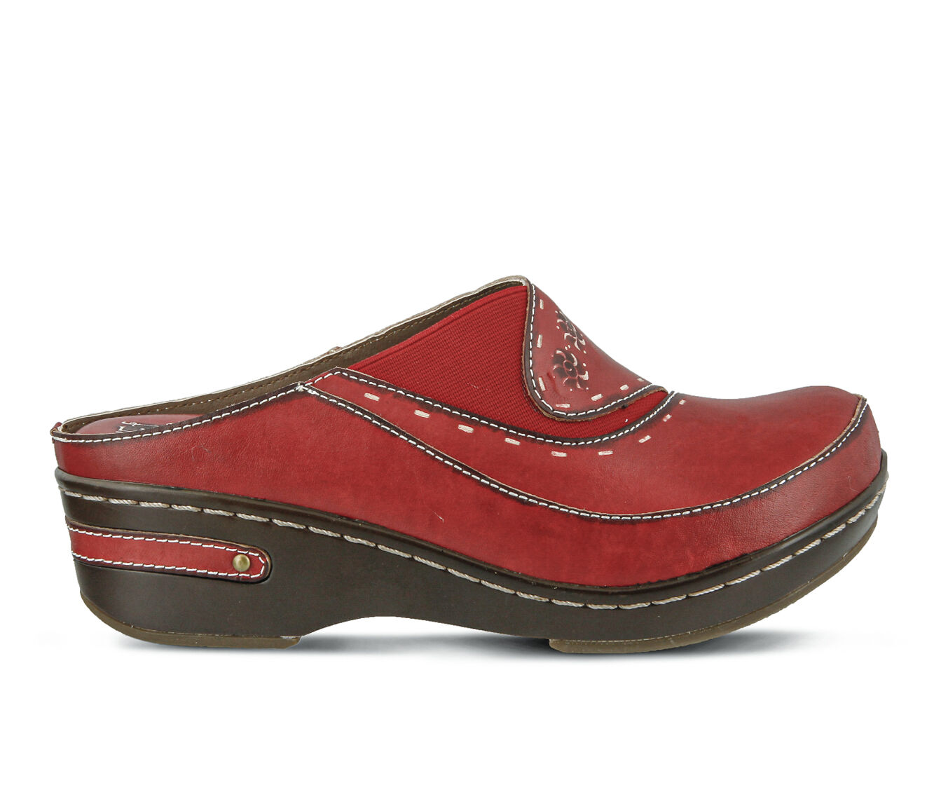 Women's L'ARTISTE Chino Clogs Red