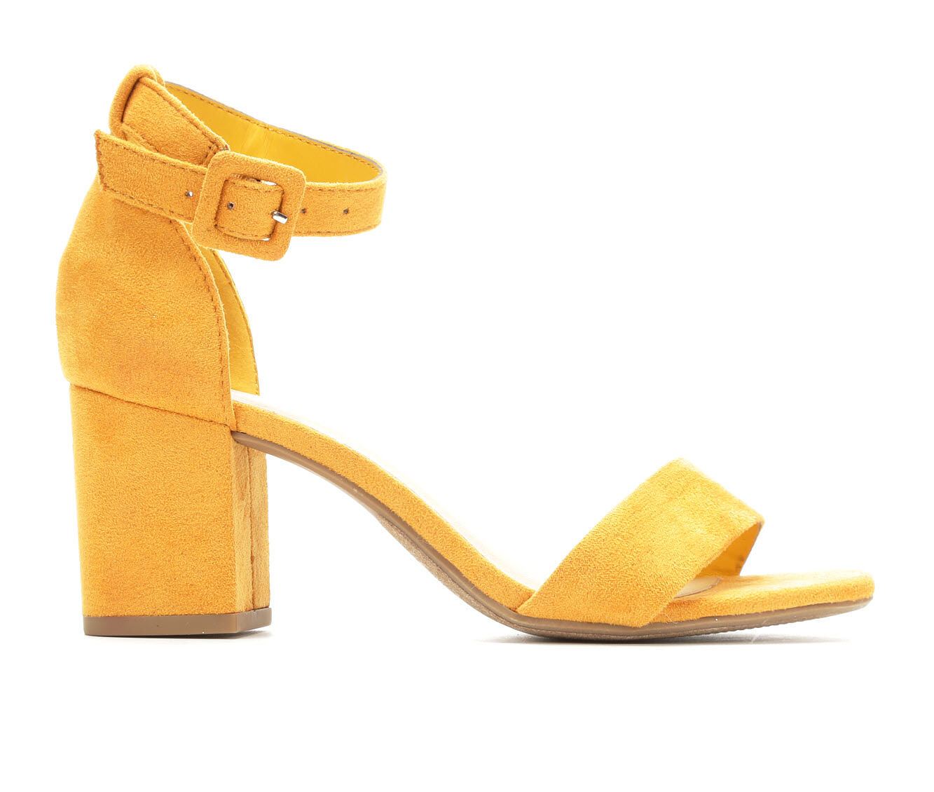 Women's Y-Not Cake Heeled Sandals Mustard Micro