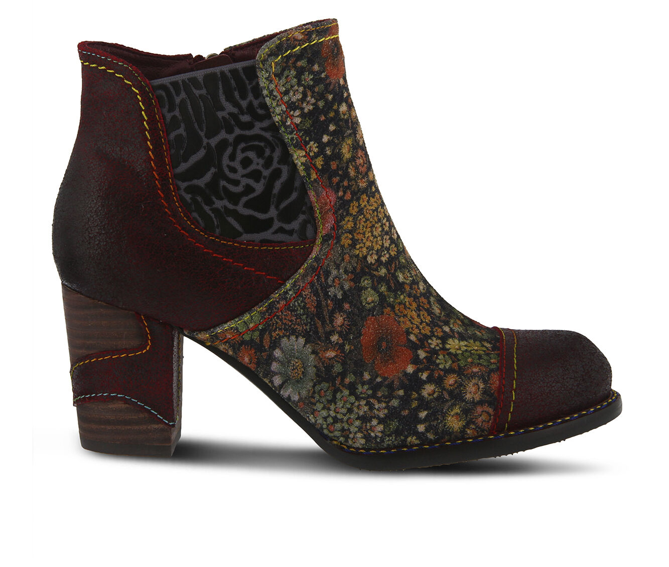 great deals Women's L'ARTISTE Melvina Booties Bordeaux Multi
