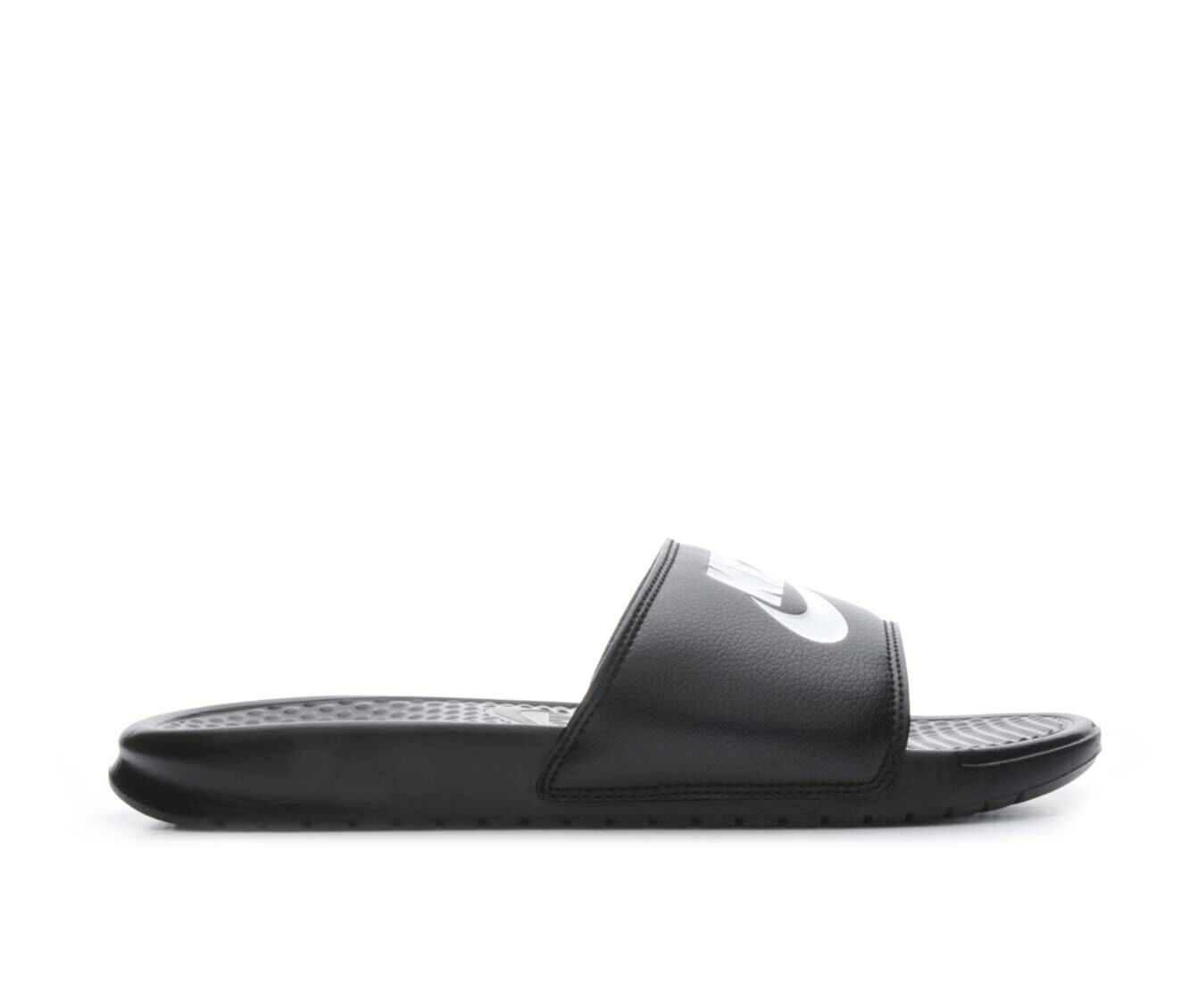 new arrivals Men's Nike Benassi JDI Sport Slides Black/White