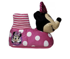 Disney Toddler & Little Kid Minnie Mouse Dot Bootie Slippers