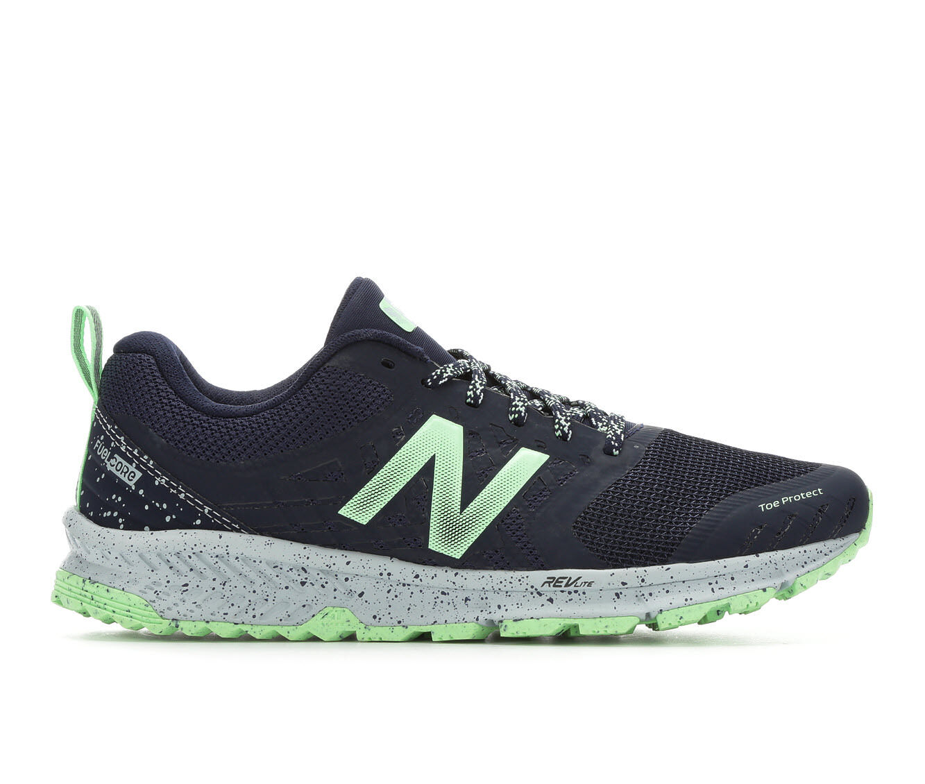 Women's New Balance WTNTRV1 Trail Running Shoes Navy/Green/Wht