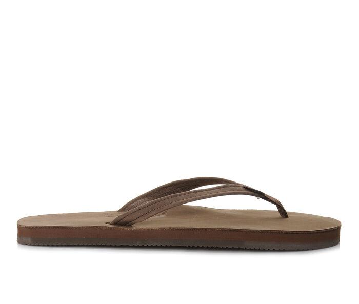Women's Rainbow Sandals Single Layer Premier Leather -301ALTSN Flip-Flops
