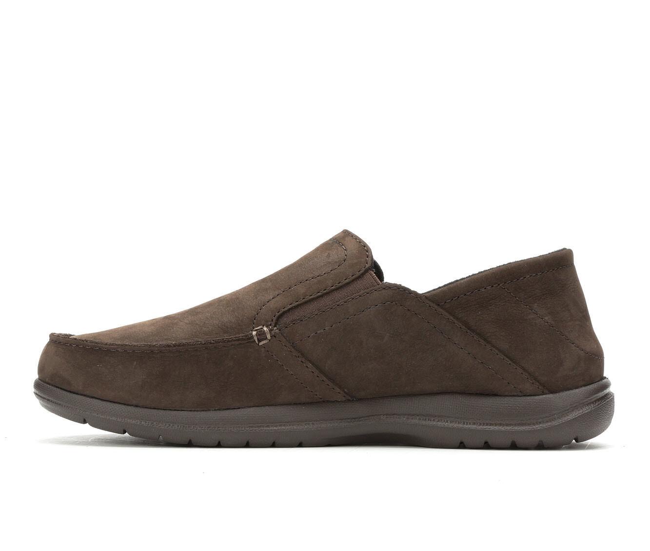 Choose SZ//color Crocs Men/'s Santa Cruz Convertible Leather Slip-On