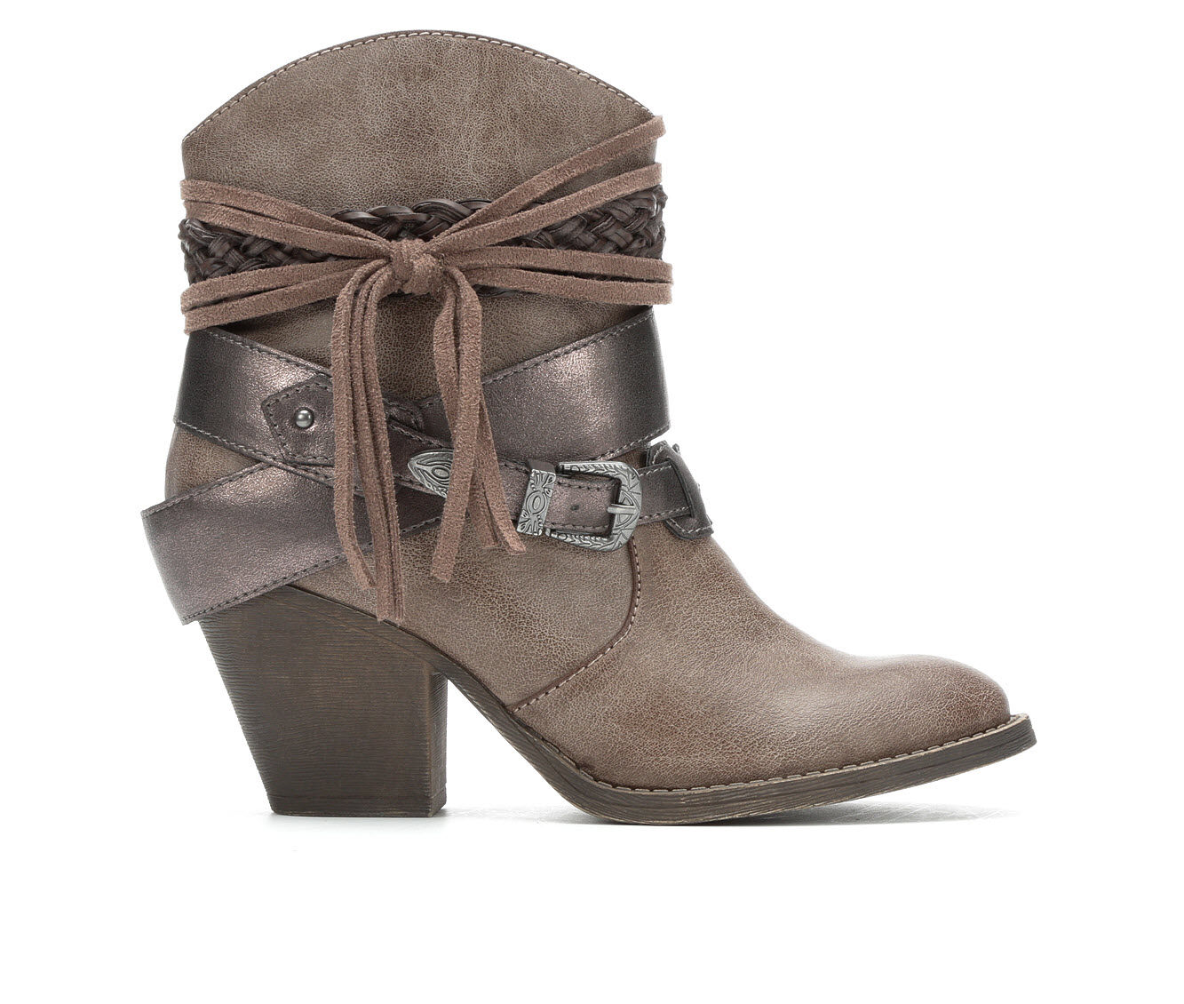 Women's Jellypop Lydia Western Boots Taupe Smooth