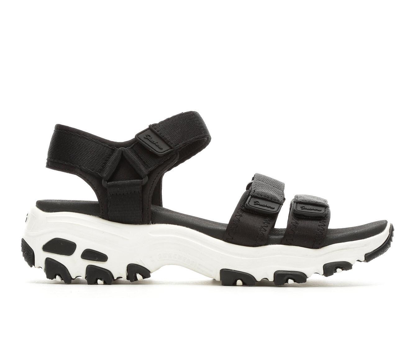 get cheap authentic Women's Skechers Cali D'Lites Fresh Catch Flatform Sandals Black