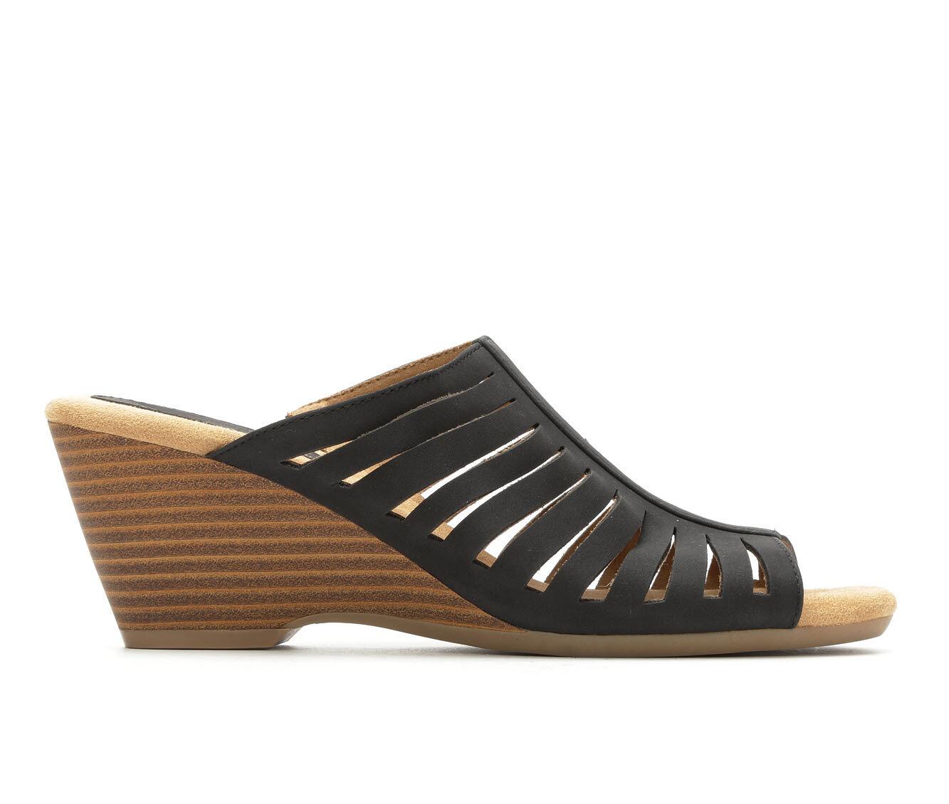 Sale Low Price Women's Solanz Paige Wedge Sandals Black