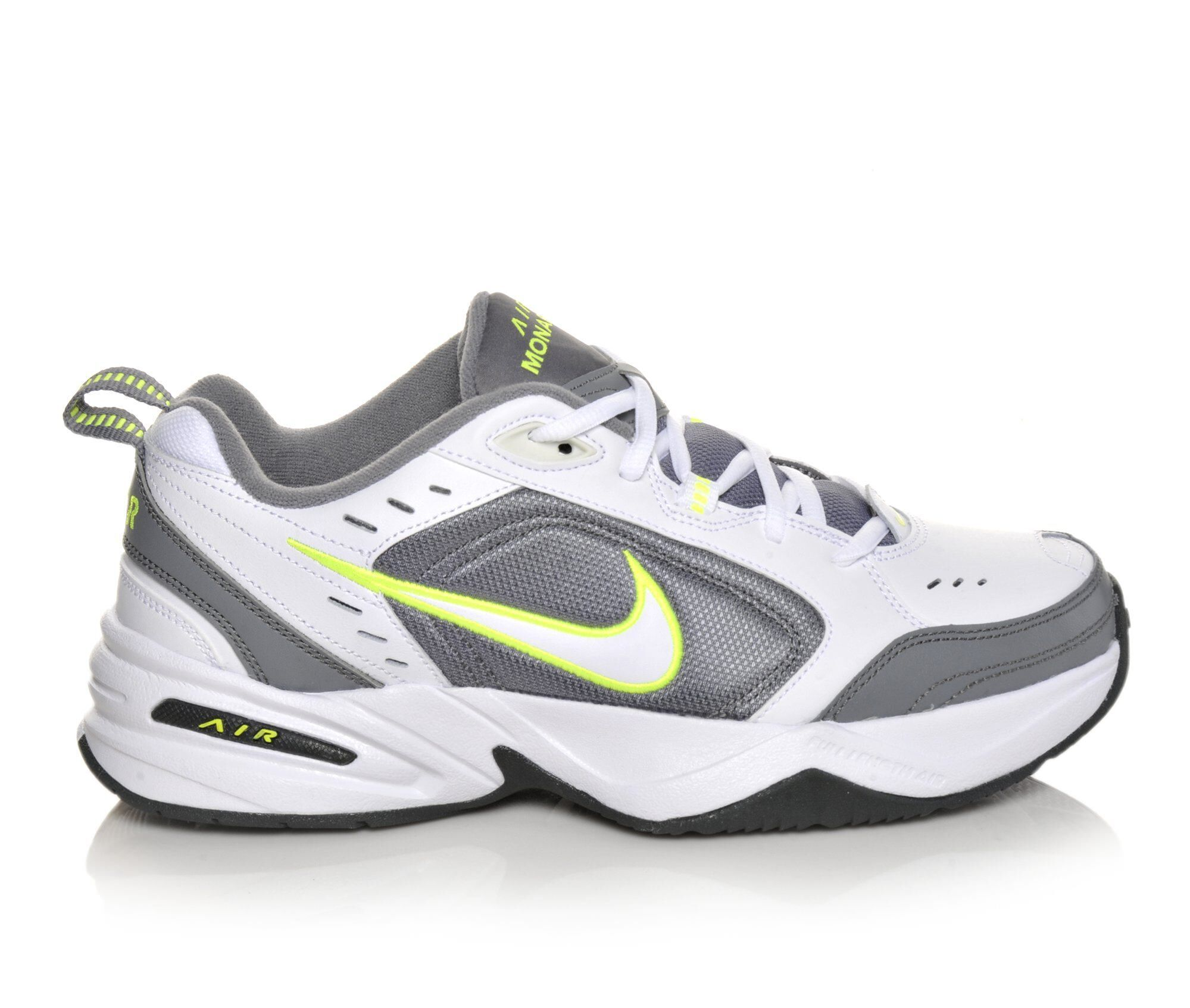 Men's Nike Air Monarch IV Training Shoes White/Grey/Volt