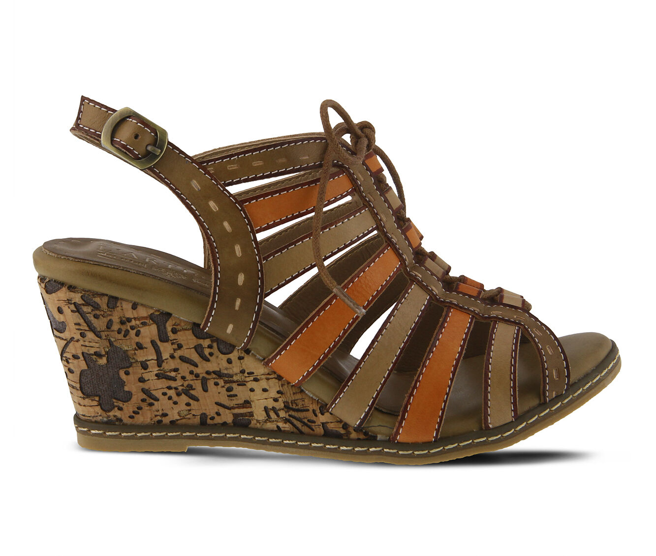 Women's L'ARTISTE Quinne Wedges Beige Multi