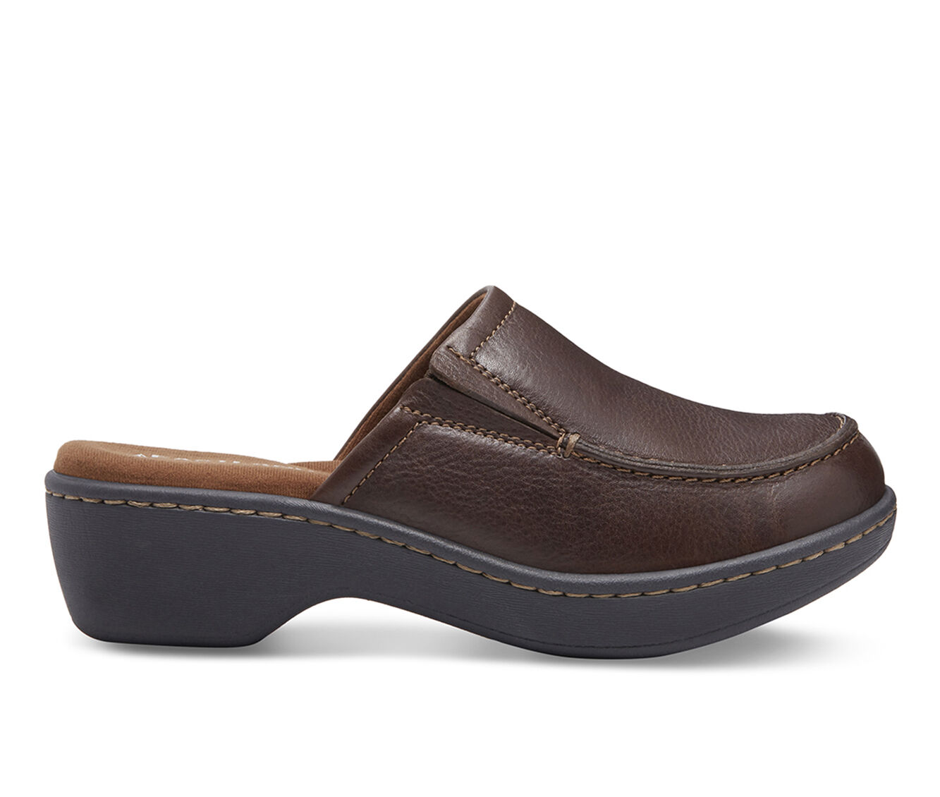 Women's Eastland Georgia Clogs Brown