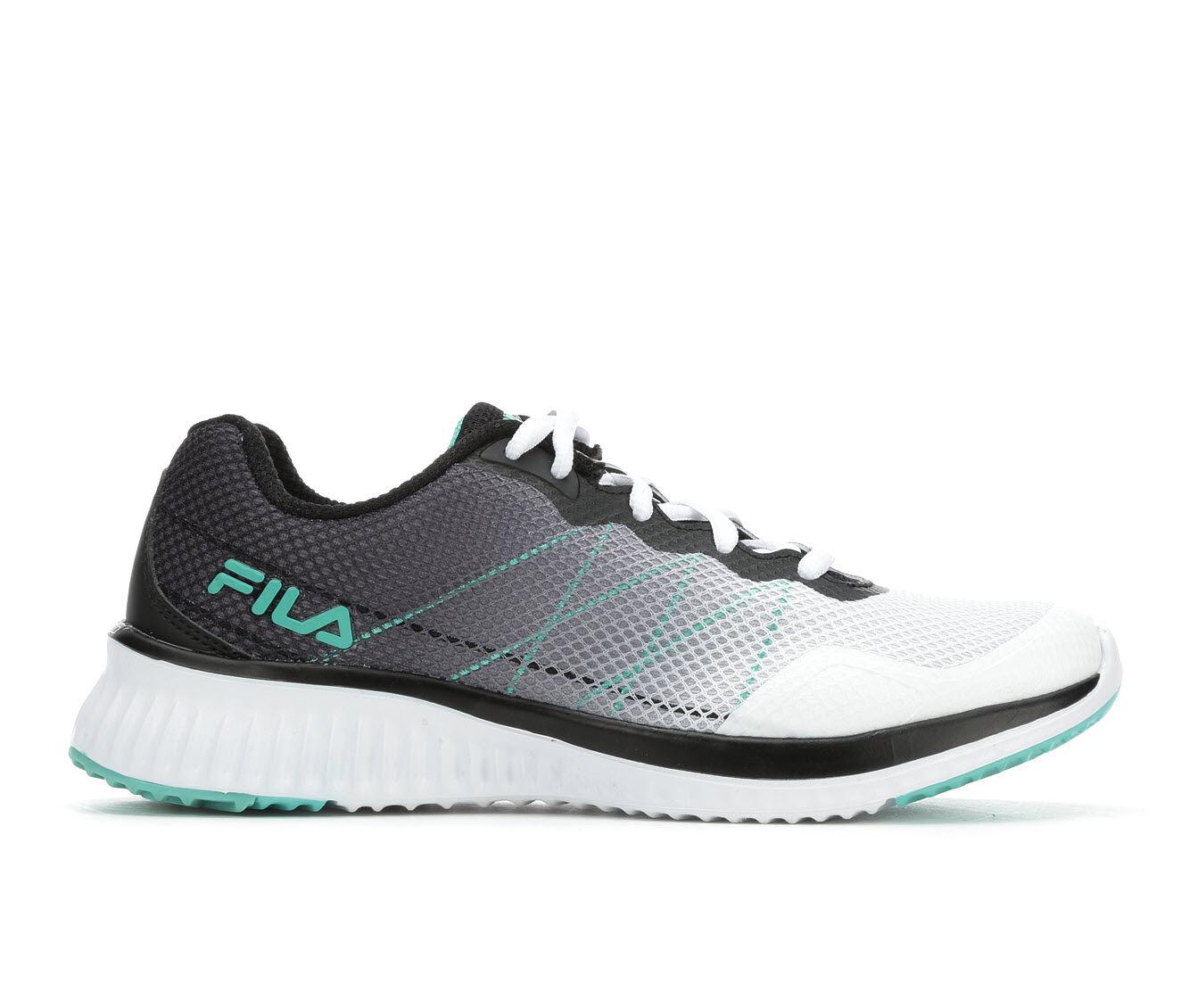 Women's Fila Memory Geosonic Sneakers Wht/Blk/Green