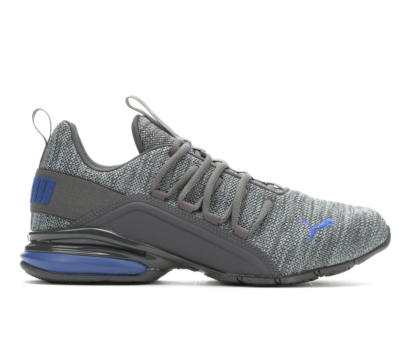 new arrivals Men's Puma Axelion Knit Sneakers Grey/Blue