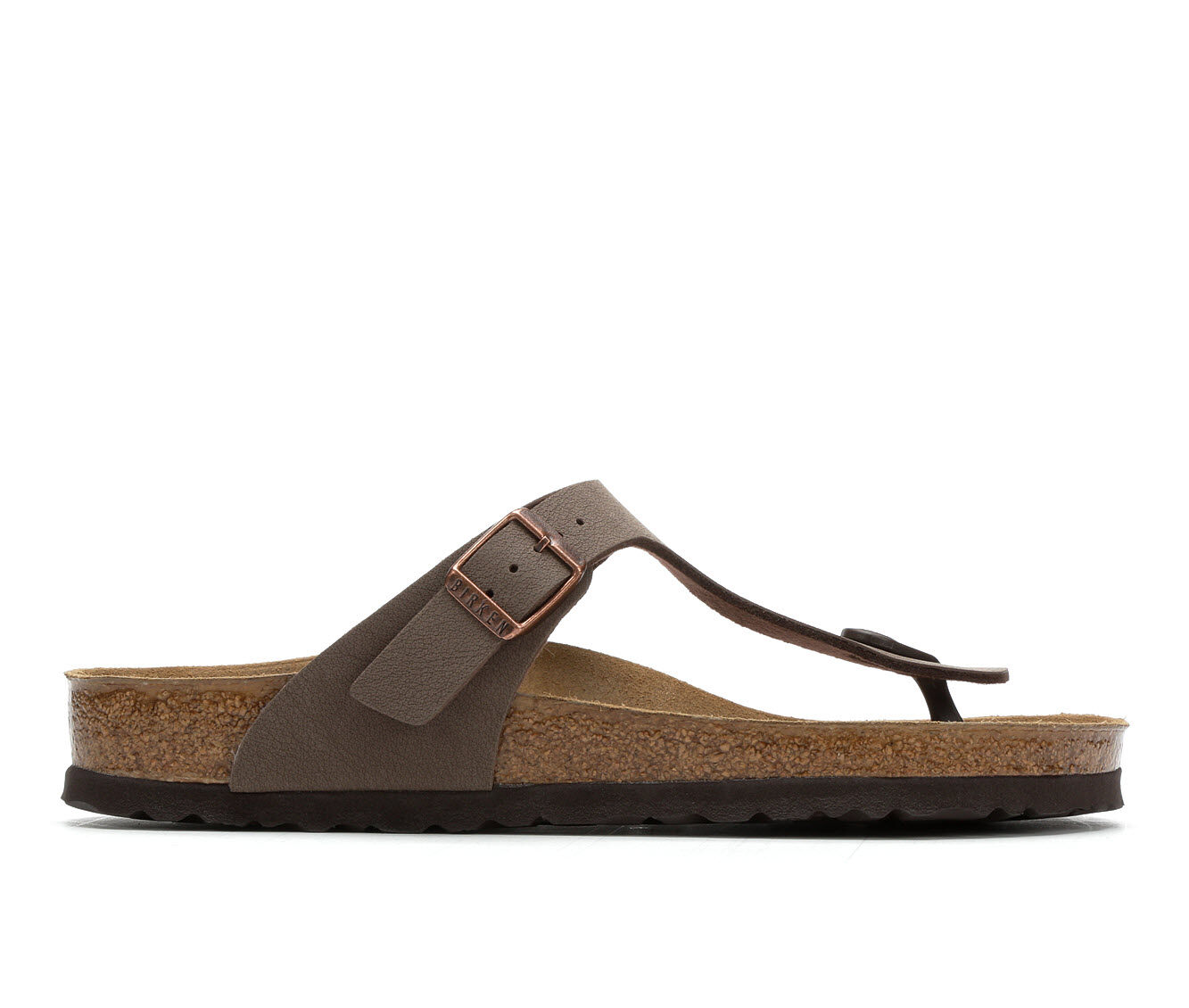 Worldwide Delivery Women's Birkenstock Gizeh-leather Footbed Sandals Mocha