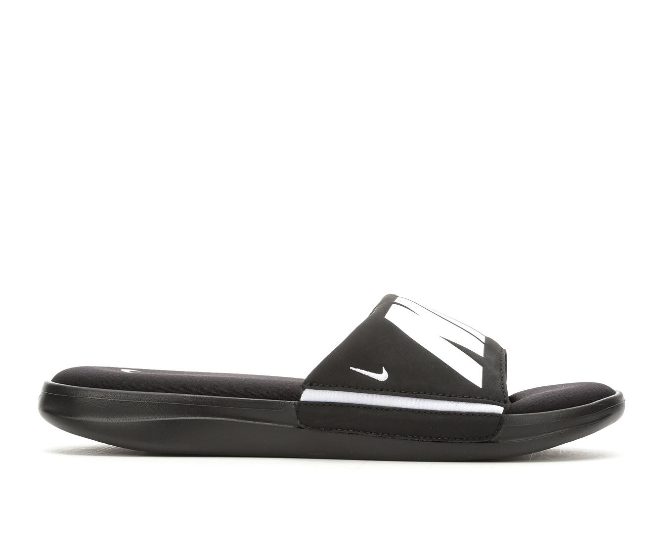 Men's Nike Ultra Comfort 3 Sport Slides Black White