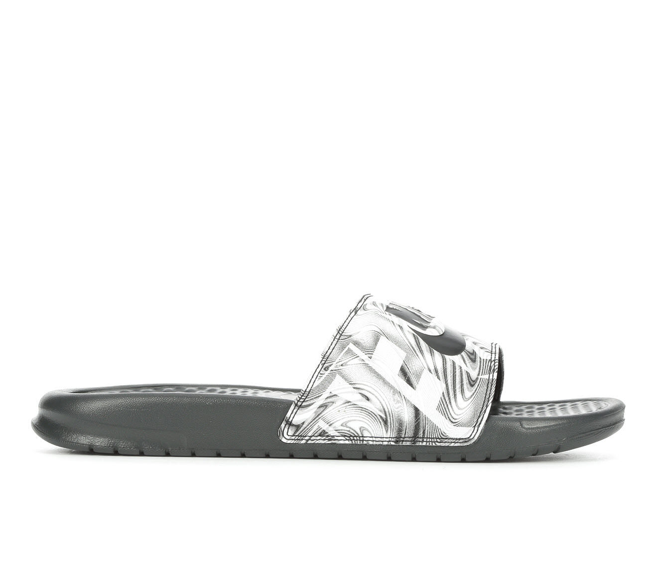 buyt new Men's Nike Benassi JDI Print Sport Slides Anthracite/Bk