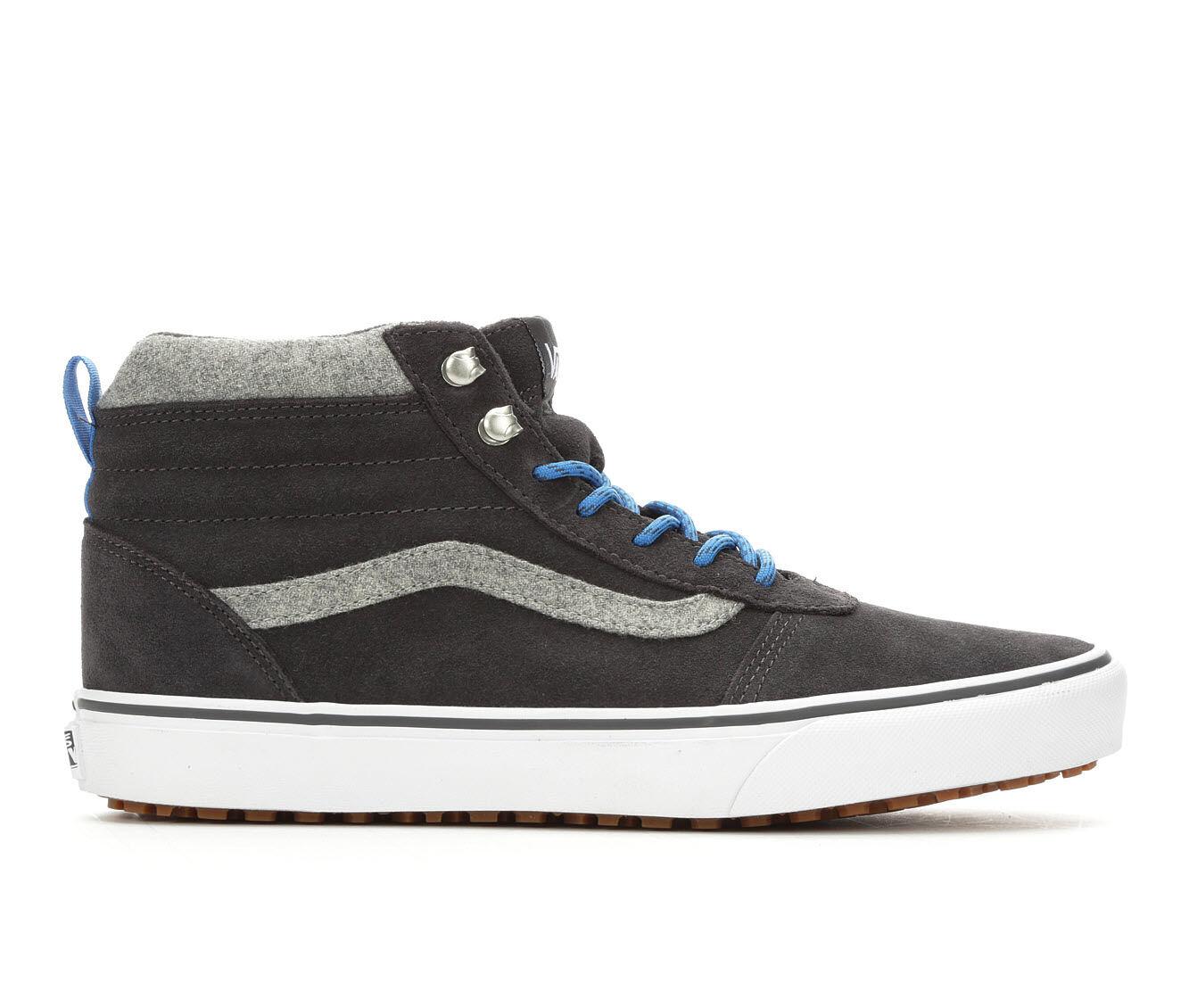 Men's Vans Ward Hi MTE Skate Shoes Grey/White/Blue