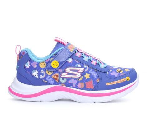 Girls' Skechers Swift Kicks- Emoji Match 10.5-4 Light-Up Sneakers