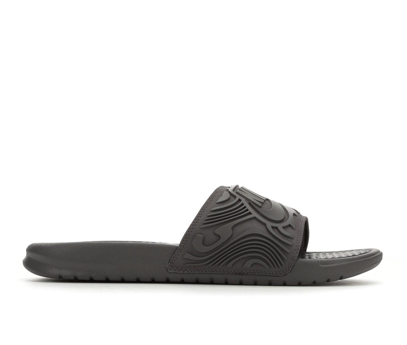 purchase cheap Men's Nike Benassi JDI SE Sport Slides Grey/Black