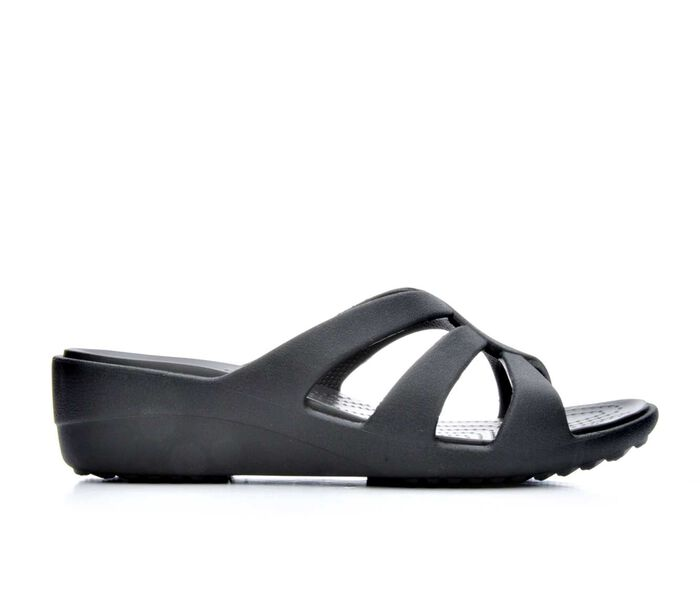 Women's Crocs Sanrah Strappy Wedge Sandals