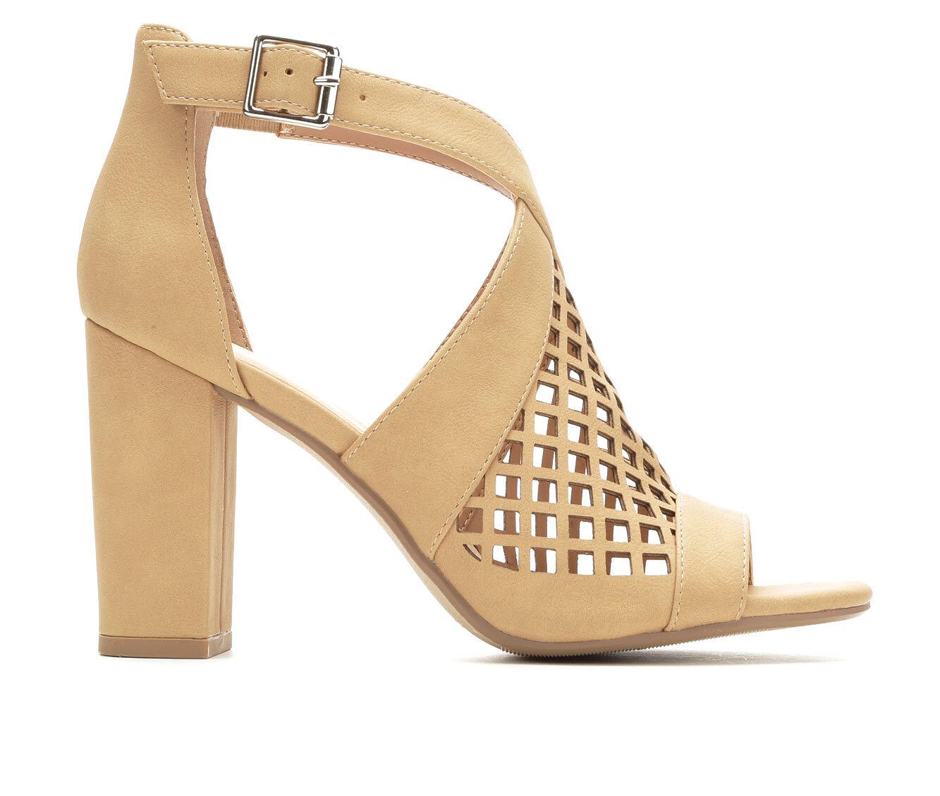 Women's Y-Not Beehive Heeled Sandals Natural Nub