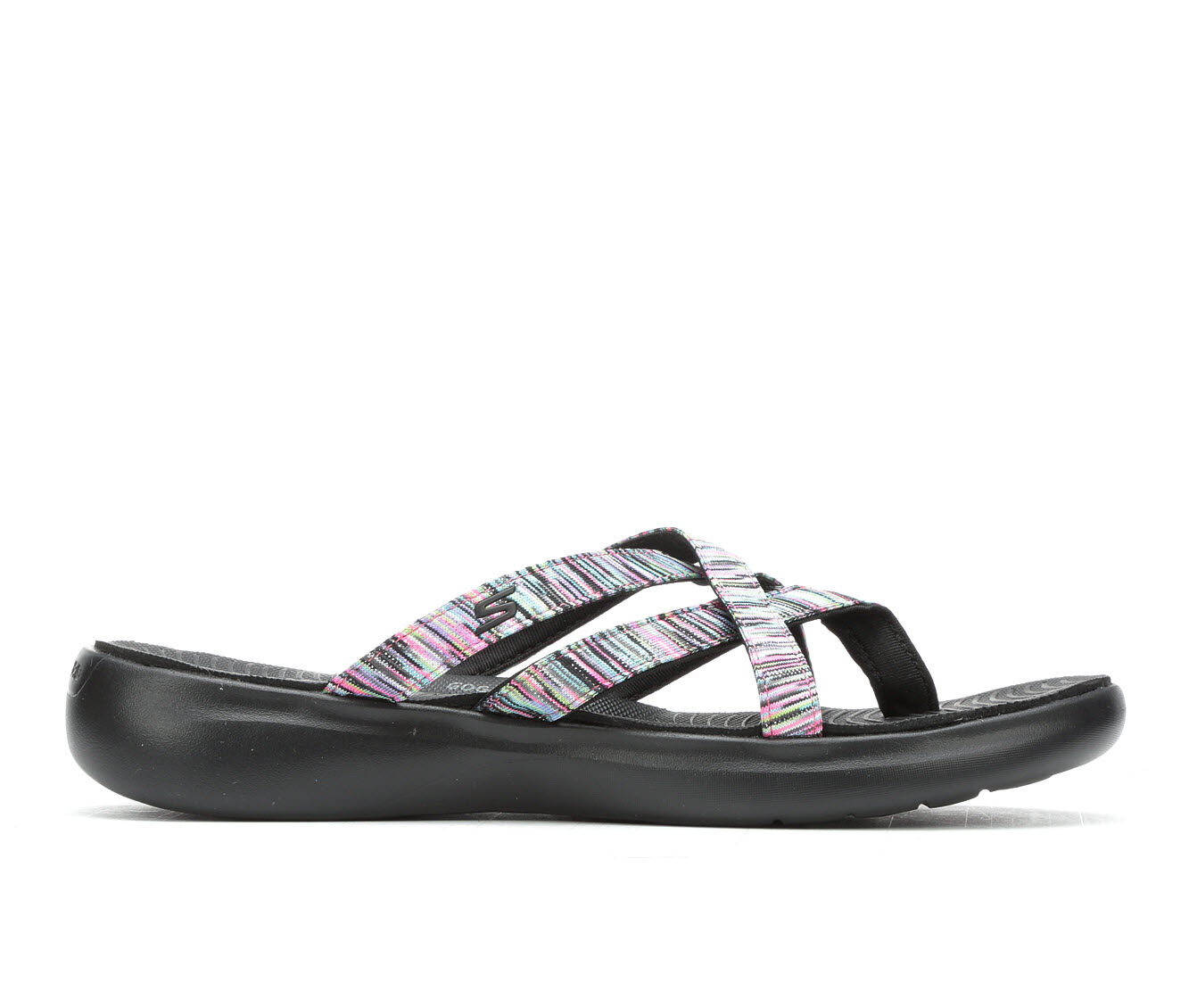 new arrivals Women's Skechers Go Go Luxe 16282 Sandals Black Multi
