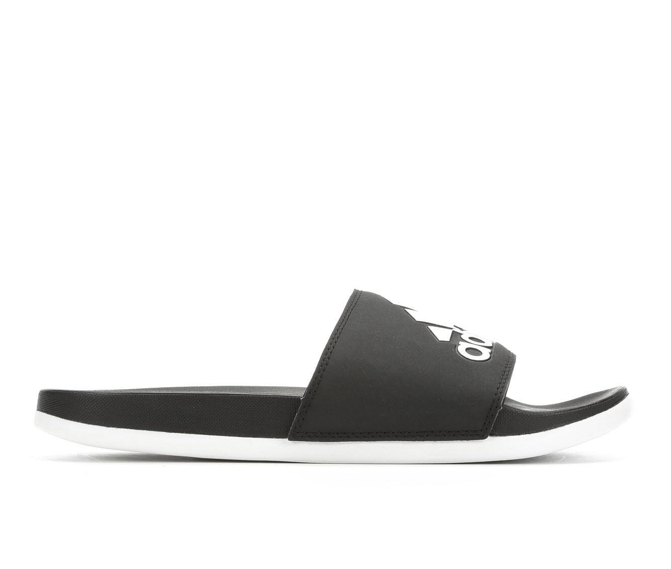 Women's Adidas Adilette CF Logo Sport Slides Black/White