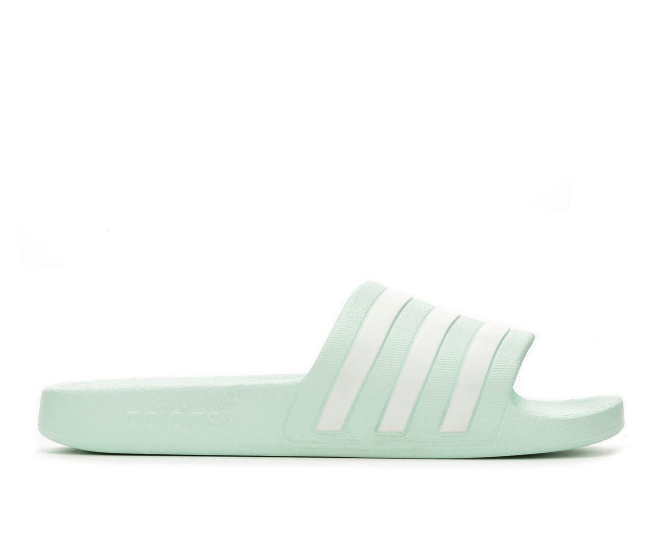 Women's Adidas Adilette Aqua Slides Ice Mint