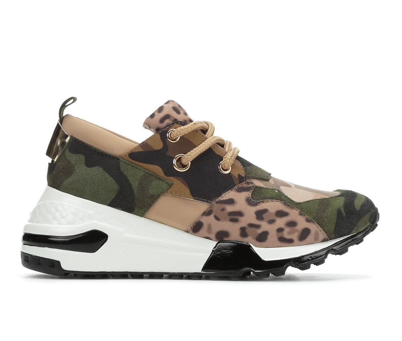 Women's Steve Madden Cliff Sneakers Khaki Olive