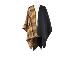 NYC Underground Plaid Colorblock Ruana