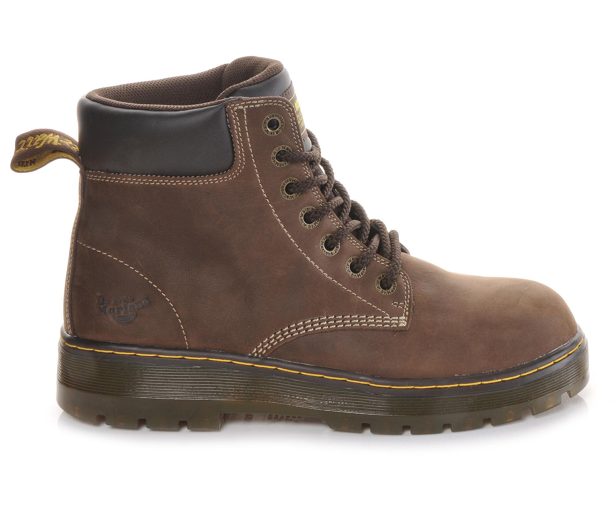 Men's Dr. Martens Industrial Winch Steel Toe Work Boots Brown Wyoming