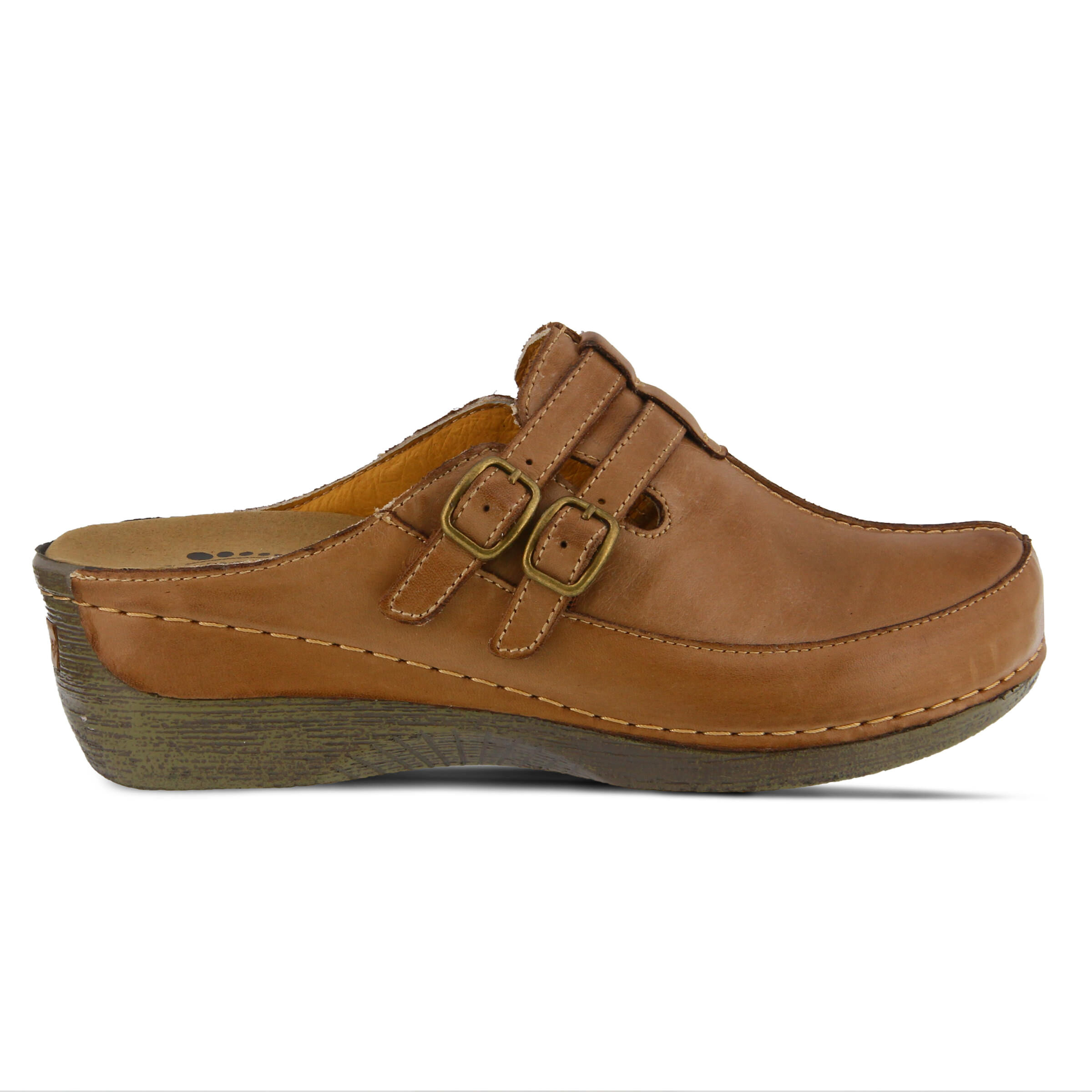 Women's SPRING STEP Happy Clogs Medium Brown