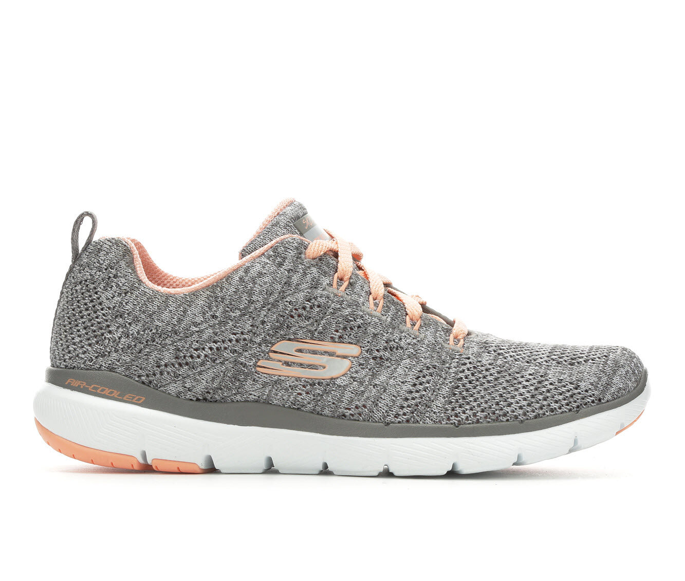 Women's Skechers High Tides 13077 Sneakers Grey/Coral