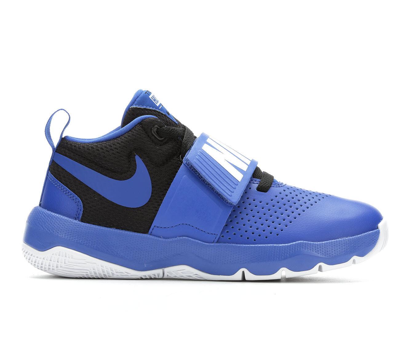 best website 46e70 9ff4c get boys nike team hustle d8 3.5 7 high top basketball shoes 4f1c2 7ad3c