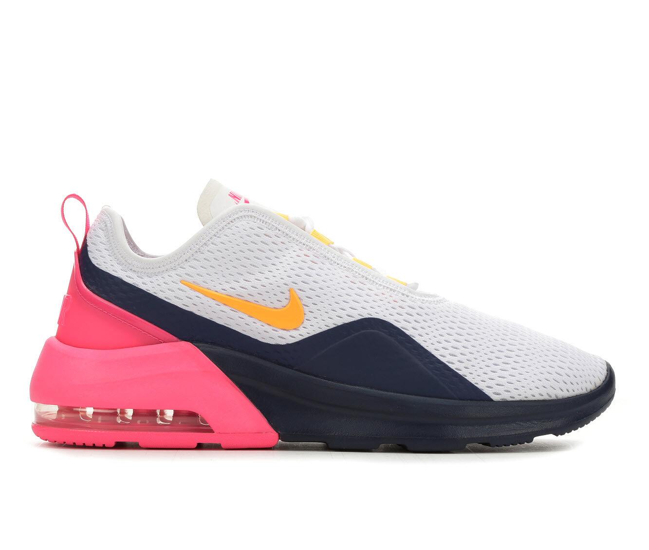 Women's Nike Air Max Motion 2 Sneakers Wht/Orange/Navy