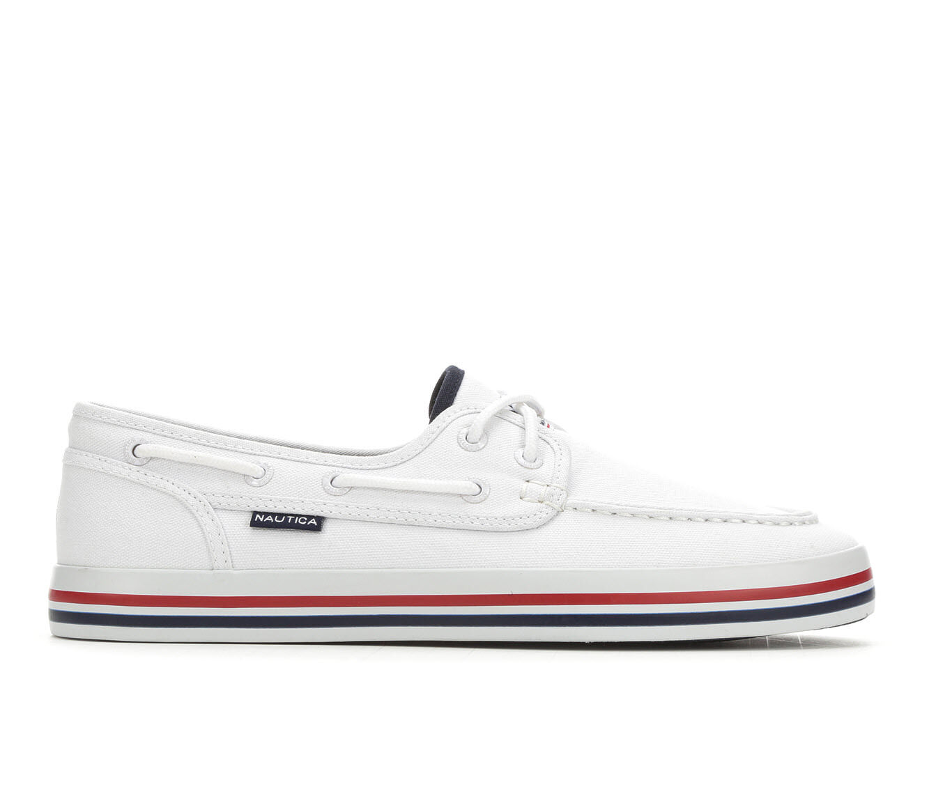 Men's Nautica Spinnaker 3 Boat Shoes White Heritage