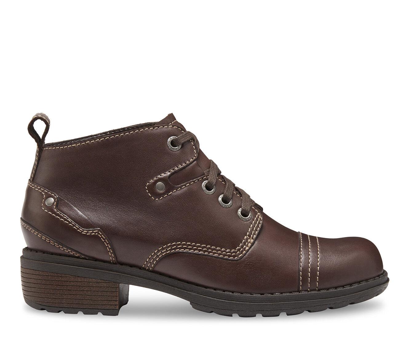 Women's Eastland Overdrive Combat Boots Brown