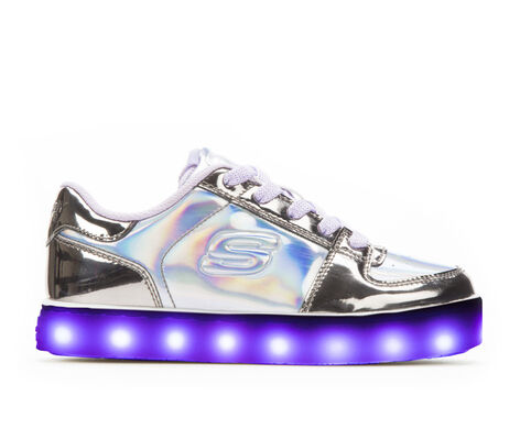 Girls' Skechers Energy Lights Low Girls Metallic Sneakers
