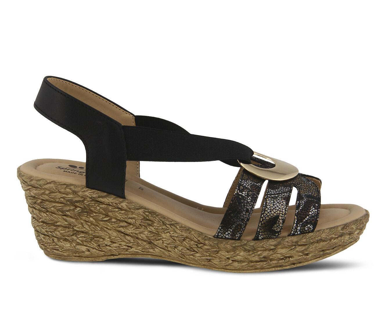 Quantity Assured Women's SPRING STEP Misi Dress Sandals Black Multi