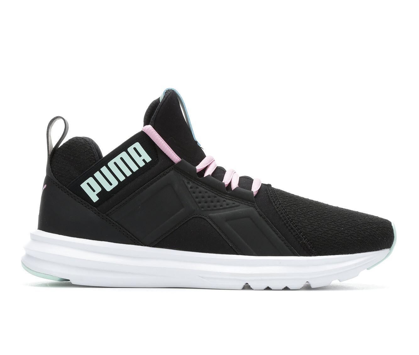 shop authentic Women's Puma Zenvo High Top Slip-On Sneakers Black/Aqua/Pink