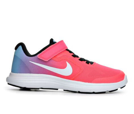 Girls' Nike Revolution 3 10.5-3 Running Shoes